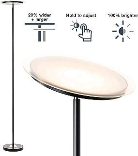 Dimmable Standing Torchiere Bright LED Floor Lamp for Living Room - Brightest Modern Uplight Floorlamp for Bedroom