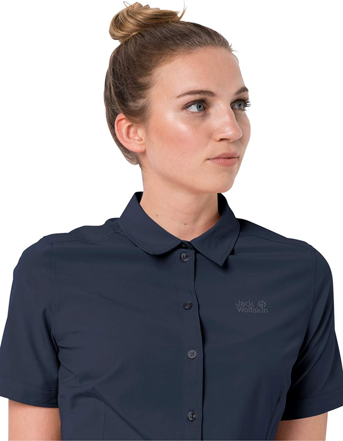Jack Wolfskin Women's Sonora Short Sleeve Shirt with Uv Protection