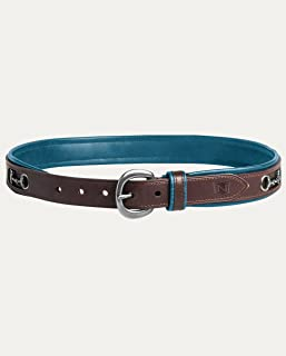 Noble Outfitters, Womens English Belt, Havana Brass, Small