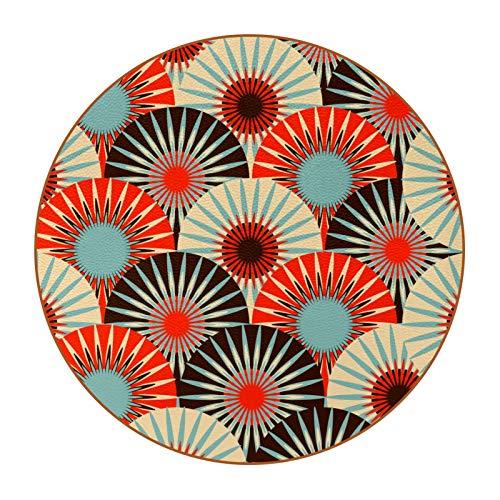 Juego de 6 posavasos para beber, protección de mesa para cualquier tipo de mesa, madera, vidrio, mesas de piedra, posavasos suave perfecto para cualquier tamaño de vasos de bebida, patrón Japón