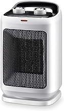 NFJ-LYR Calefactor bajo Consumo electrico,2 Modos,Calefactor Portátil,Termostato Regulable,Calefactor Ventilador,Protección sobrecalentamiento,Ventiladores bajo Consumo