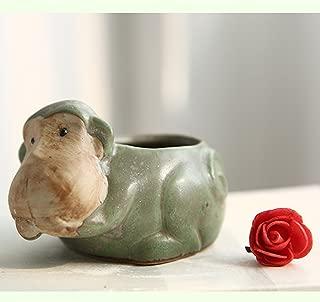 Better-way Monkey Pot Ceramic Succulent Plant Pot Cactus Planter Flower Pot Container Planter Animal Decorative Pots Indoor (Monkey)