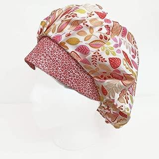 Bouffant Scrub Cap Light Leaves Scrub Hat OR Hats Womens Scrub Caps Thanksgiving Scrub Hat