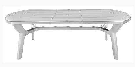 Tavolo Giardino Plastica Prezzo.Gbshop Tavolo Da Giardino Allungabile In Plastica Resina 180 230 Cm Amazon It Giardino E Giardinaggio