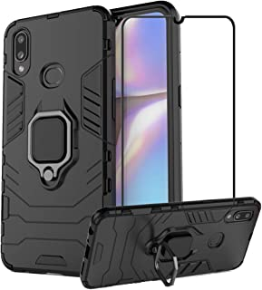 2ndSpring Case for Samsung Galaxy A10s with Tempered Glass Screen Protector,Hybrid Heavy Duty Protection Shockproof Defend...