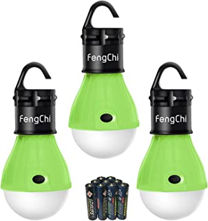 FengChi LED Camping Lantern, [3 Pack] Portable Outdoor Tent Light Emergency Light Bulb for Camping, Hiking, Fishing,Hurricane, Storm, Outage