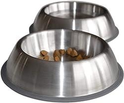 PetFusion Premium Brushed Anti-tip Dog Bowl
