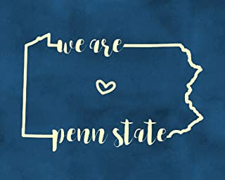 We Are Penn State Wall Decor Blue and White Art Pennsylvania Wall Art Print