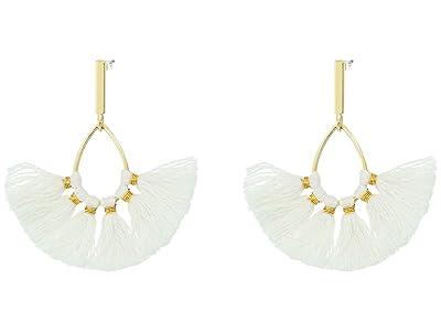 J.Crew Sweepy Tassel Earrings (White) Earring