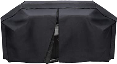 "Outdoor Armor XL Heavy Duty Waterproof Barbecue Smoker Grill Cover, Large 79"" Cover Special Fade and UV Resistant PVC Coated Material for Complete Protection. Middle Zipper Allows Easier Accessibility"