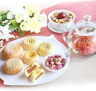 お中元 敬老の日 ギフト スイーツ 人気 工芸茶 5種&人気菓子 ほっこりセット カーネーション茶 焼き菓子 誕生日 (Amazon出荷)