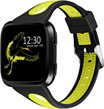 Joyozy Sport Bands Compatible with Fitbit Versa 2&Fitbit Versa Lite&Fitbit Versa&Fitbit Versa SE Smartwatch,Silicone Small...