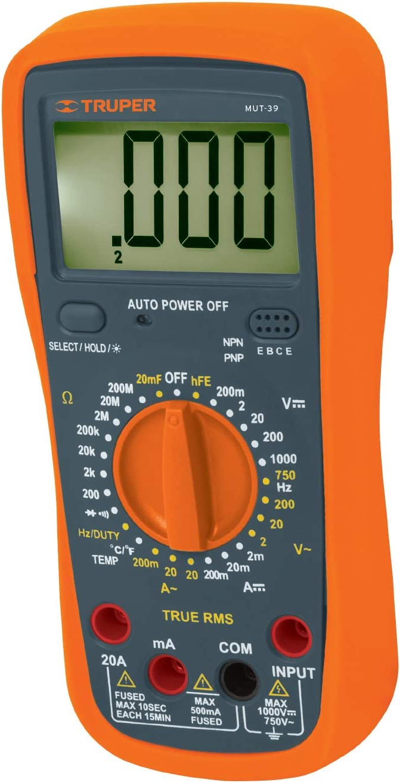 TRUPER MUT-39 マーケット Professional Multimeter 全品最安値に挑戦 Digital