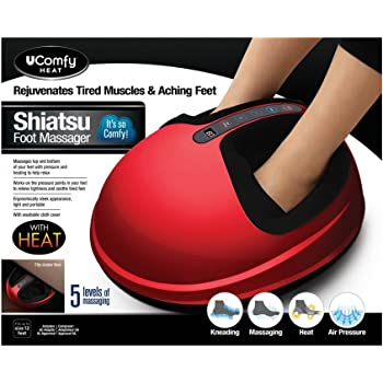uComfy Shiatsu Foot Massager 2.0, Red