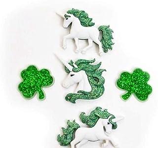 Unicorns Buttons BLUE Shank Back Fantasy Unicorns Jesse James Dress It Up Buttons 1324