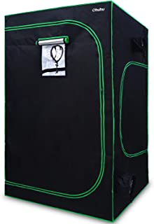"Ohuhu 48""x 48""x 80"" Grow Tent with Observation Window & Tool Bag, Mylar Hydroponic Plant Growing Tent with Durable 600D Ox..."