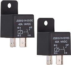 Ehdis® Coches relé 4 Pin 12v 40amp Spst Modelo No .: JD2912-1H-40A 12VDC 14VDC de los detectores magnéticos y Entrantes, Paquete de 2