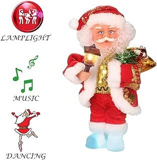 ElementDigital Christmas Santa Musical Doll, Dancing and Singing Xmas Plush Electric Toy Christmas Gift Electric Christmas Doll (Santa + Lantern)