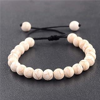 Anxiety Bracelet 8Mm Natural Stone Mala Beads Strand Bracelet Men Fashion Buddha Meditation Woven Bracelet