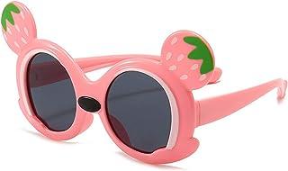 ZGF - ZGF Gafas de Sol para niños pequeños Gafas de Sol polarizadas de protección UV adecuadas para niños de 3 a 9 años,Rosado