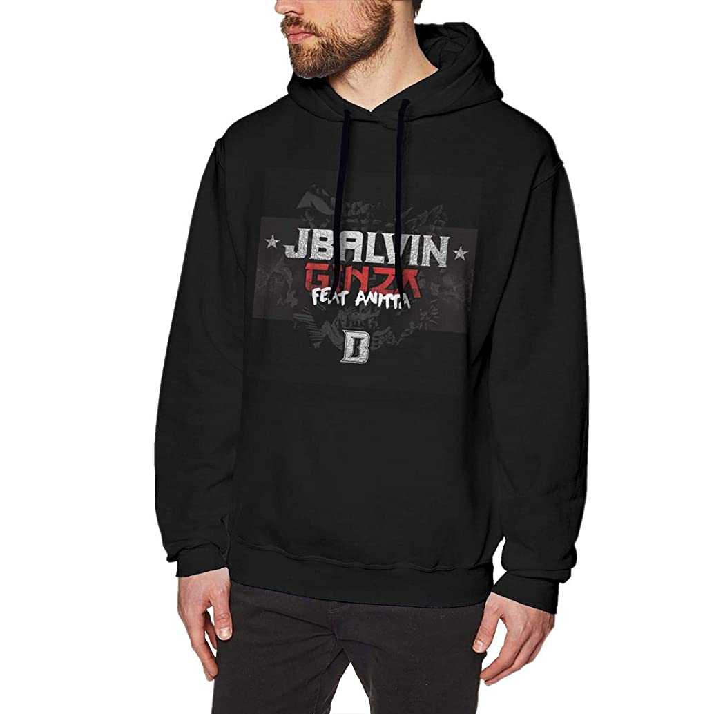 RHZTPYRDE J Balvin Ginza Men's Hooded Sweatshirt Black