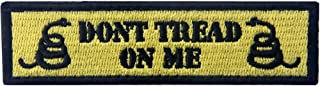Tactical Don't Tread On Me Milltary Embroidered Applique Morale Hook & Loop Patch - Yellow & Black