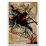 Nightcrawler xmen artwork, splatter art, superhero...