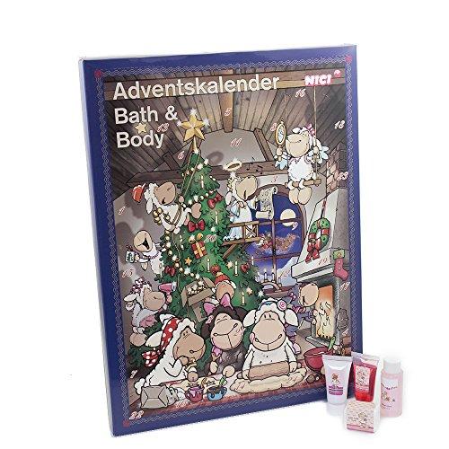 Accentra Adventskalender Beauty, 24 Advents-Überraschungen aus dem Körperpflege & Badespaß Bereich, sinnliche Düfte, süßes Design & abwechslungsreicher Inhalt