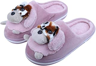 IRSOE Comfortable Indoor/Outdoor Soft Bottom Fur Slippers  Womens Flipflop  Womens Puppy Designed Slippers  Girls Slippers flip Flop