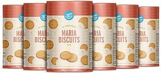Amazon-merk: Happy Belly, Maria-koekjes zonder toevoeging van suiker, 6 x 400 g