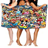 Cute Doormat Disney Badehandtuch-Set, 100 % ringgesponnene Baumwolle, schnell trocknend, sehr saugfähig, weiche Haptik, perfekt für den täglichen Gebrauch