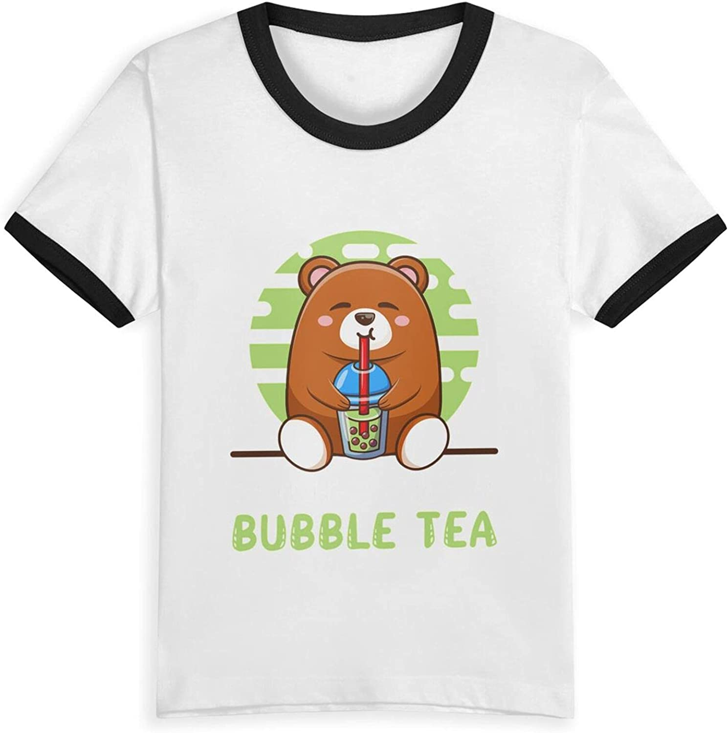 You Had Me at Bubble Tea Bear T-Shirts Novelty for Youth Tees with Cool Designs