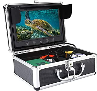HD Cámara submarina, 9 pulgadas 1000TVL Monitor de pesca en color con cable de 50 metros, Luces LED IR,IP68 Impermeable (UE)