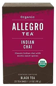 Allegro Tea, Organic Indian Chai Tea Bags, 20 ct