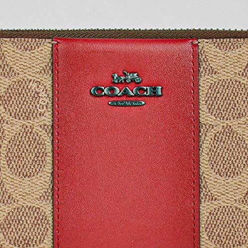 [アウトレット]COACH(コーチ)レディース財布ラウンドジップ長財布31546V5P4I(タンレッドアップル)