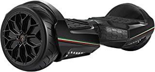 """LAMBORGHINI Hoverboard 6.5""""Balancing Scooter with App-Enabled and Bluetooth Speaker, SmartSelf Balancing Electric Hover Board Scooterfor Adult Kids ES11 - Black, US Plug"""