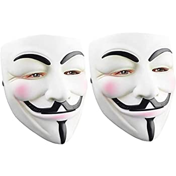 Anonymous Mask Halloween Costume Cosplay Masquerade Party DukeTea Hacker Mask for Kids
