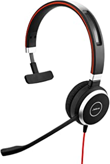 Jabra Evolve 40 MS Stereo Headset – Microsoft Teams-certifierade Headphones för VoIP Softphone med Passive Noise Cancellat...