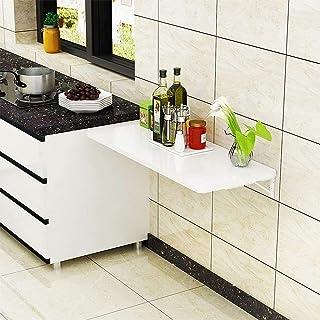 ZXYSR Table murale pliante en acier laminé à froid, support de table, table murale, table de cuisine et salle à manger, bu...