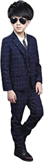 [チューカー] ボーイズ フォーマル スーツ 子供服 タキシード 3点セット ジャケット ベスト ズボン 長袖 春秋 カジュアル 紳士服 卒業式 七五三