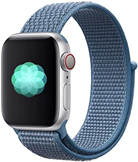 Nylon Sport Band for Apple Watch 44mm 42mm, Soft Replacement Strap for iWatch Series 4/3/2/1 (Cape Cod Blue)
