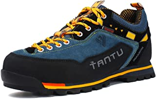 Autumn and Winter Outdoor Shoes,Men's Hiking Shoes,Waterproof Suede Leather Breathable Lightweight Walking Shoes Leisure Mountain Climbing Shoes