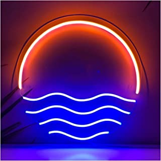Bedroom neon Sign Custom Sunset Neon Signs for Wall, Bedroom, Home, Led Visual Art Wall Light Up Sign Neon Decor for Room...