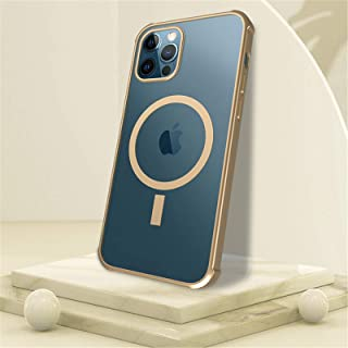 Wireless Charging Magnetic Bumper Cases for iPhone 12 Pro Max 12 Mini Mobile Phone Protective Cover, Strong Magnet TPU She...