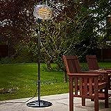 ZYFWBDZ Calentador de Patio, 650W / 1350W / 2000W Calentador eléctrico para Exteriores Ajustable de 3 Engranajes, Calentador infrarrojo para Exteriores, Altura Ajustable