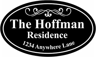 Personalized House Address Sign Plaque Family Name Aluminum