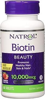 Biotina 10000mcg 60 Tabs Natrol Importado Original
