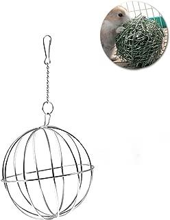 UEETEK 8cm Sphere Treat Guinea Pig Hamster Rat Rabbit Feed Dispenser Hanging Ball Toy for Pets
