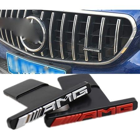 Frontgrill Im Gtr Stil Amg Mini Logo A B C E Klasse W176 W246 W204 W205 W212 W213 Glc X253 Gle W292 Passend Für Alle Gtr Automodelle Al Silver Auto