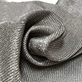 PHBSF 1.5M Width 100% Silver Fiber EMF/RFID/EMI/RF Radiation Protection,Nano-Ion Silver Electroconductive Fabric Stretchable DIY Shielding Fabric (Size : 1M)